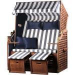 Strandkorb - bene living - Ostsee - blau/weiß - Wood-Style