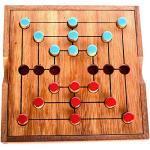 Strategi Mühle Spiel Knobelholz Spielbox Large Nine Morris Brettspiel aus Holz für 2 Spieler taktisches und strategisches Spielen Kinderspiel