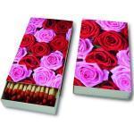 Streichhölzer, Pink & red roses, 11x6,3cm, 45 Stück in einer Box