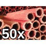Ströbel 50x Wachsfackel Fackel Gartenfackel - Brenndauer je nach Länge (65 cm - ca. 105 Minuten Brenndauer)