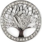 styleBREAKER Brosche, Lebensbaum Magnet Brosche mit Strass, silberfarben, Silber