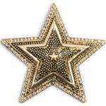 styleBREAKER Brosche, Stern Magnet Brosche mit Strass, goldfarben, Gold