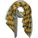 styleBREAKER XXL-Schal »Asymmetrischer Web Schal mit Pepita Hahnentritt Muster« Asymmetrischer Web Schal mit Pepita Hahnentritt Muster, gelb