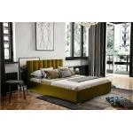 Stylefy Canella Polsterbett Webstoff 160x200 cm Gelb