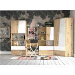 Stylefy Narin Kinderzimmer-Set III Eiche Artisan Dekor Weiß Matt