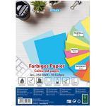 Stylex 40825 - Farbiges Papier, DIN A4, 250 Blatt, eine Packung mit 10 verschiedenen Farben