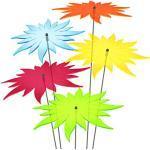 SUNPLAY Sonnenfänger - Sonnenblumen 5er-Set - Blau, Gelb, Grün, Orange, Rot - Ø 20 cm Durchmesser + Schwingstäbe
