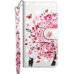 Sunrive Hülle Für Huawei Y625, Magnetisch Schaltfläche Ledertasche Schutzhülle Etui Leder Case Cover Handyhülle Tasche Schalen Lederhülle(Baum Katze)