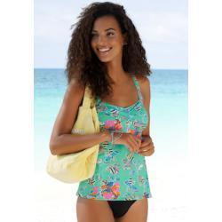 Sunseeker Bügel-Tankini-Top Jam, mit Alloverprint blau Damen Bikini Oberteile Bikinis Damenbademode