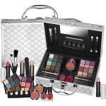 Super Lidschatten Make-up ALU Koffer mit Reliefmuster Schminkkoffer 38tlg(e758)