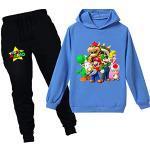 Super Mario Hoodie Cartoon Spiel Baby Mädchen Jungen Freizeit Kleidung Sets Kinder Sweatshirt Nachtwäsche Schlafanzug Kleidung 2-12Y, blau2, 146