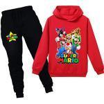 Super Mario Hoodie Cartoon Spiel Baby Mädchen Jungen Freizeit Kleidung Sets Kinder Sweatshirt Nachtwäsche Schlafanzug Kleidung 2-12Y, Rot1, 98
