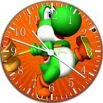 Super Mario Yoshi Wanduhr 25,4cm Nice Geschenk und Raum Wand Decor W11