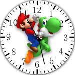 Super Mario Yoshi Wanduhr 25,4cm Will Be Nice Gift und Raum Wand Decor W352