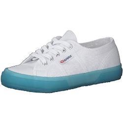 Superga Unisex 2750-Jellygum Cotu Gymnastikschuh, White-Blue Lt Crysta, 38 EU