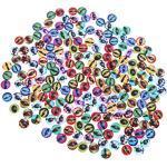 SuPVOX 100 Stück Glas Tieraugen Drache Augen Glas Cabochon Puppe Spielzeug zum Basteln Scrapbooking Handwerk Schmuck Herstellung 12 mm gemischte Farben