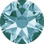 Swarovski 100 Stück Elements 2088 XIRIUS, KEIN Hotfix, Light Turquoise (Türkis), SS16 (Ø ca. 4 mm), Strasssteine zum Aufkleben