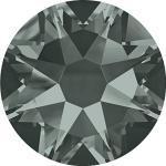 Swarovski 100 Stück Elements 2088 XIRIUS Rose KEIN Hotfix, Black Diamond (Grau), SS16 (Ø ca. 4 mm), Strasssteine zum Aufkleben