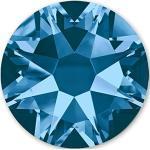 Swarovski 100 Stück Elements Hotfix, Montana (Blau), SS16 (Ø ca. 4 mm), Strasssteine zum Aufbügeln