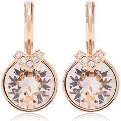 Swarovski Bella V Ohrringe, Rosa und Rosé Vergoldete Ohrhänger mit Funkelnden Swarovski Kristallen