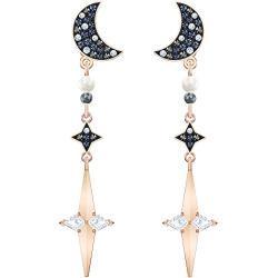 Swarovski Symbolic Ohrring Jackets, Lange Ohrhänger im Metallmix mit Funkelnden Swarovski Kristallen