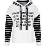 Sweatshirt Alba Moda Off-white/Schwarz