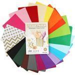 Sweelov Seidenpapier 300 Blatt A4 bunt 20 Farben bastelpapier Papier Transparentpapier zum Pompoms Verpacken Tischdeko DIY, 16 g/qm