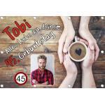 Sweet-Prints Banner zum Geburtstag personalisierbar mit Foto und Name - Kaffeeliebhaber