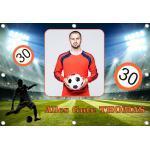 Sweet-Prints Geburtstagsbanner 35 40 45 50 55 60 65 70 75 80 85 Banner Geburtstag - Fußball 2