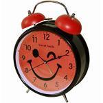 Sweet Smile Großer Nostalgischer XL Retro Glocken Wecker Uhr Glockenwecker Quarzuhr Retrowecker Batteriebetrieben Neu (Rot)