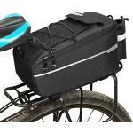 SYCHONG Isolierte Trunk Kühltasche Für Warme Oder Kalte Gegenstände, Fahrradgepäckträger-Lagerung Gepäck, Reflektierende MTB Fahrradtasche Tasche (10L),Schwarz