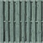 T&J Sichtschutzzaun-Element Falster Grau Kesseldruckimprägniert 180 cm x 180 cm