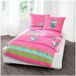 TABALUGA Kinderbettwäsche Kleeblatt, mit Tabaluga rosa Bettwäsche 135x200 cm nach Größe Bettwäsche, Bettlaken und Betttücher