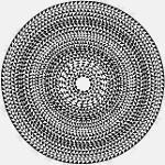 Tablecloth Tischdecke Vitra-Geometric, schwarz