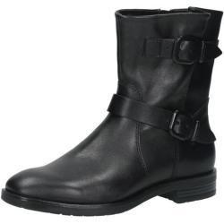 Tamaris Damen Boot Leder, schwarz