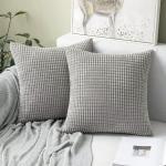TAN.TOMI Kissenbezug » Weicher Kordsamt Kissenbezug(2 Stück) Dekorative Zierkissenbezüge, Kissen für Sofa Auto Schlafzimmer Zuhause Couchkissen mit Verstecktem Reißverschluss«