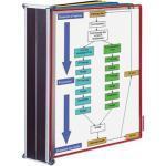 Tarifold Sichttafelsystem 414609, A4, magnetischer Wandhalter, farbig, 10 Sichttafeln