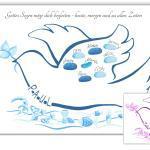 Taube Taufe, Geschenk Gästebuch Fingerabdruckbaum Taufe