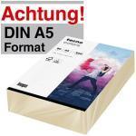 tecno Kopierpapier colors hellchamois DIN A5 80 g/qm 500 Blatt