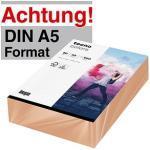 tecno Kopierpapier colors lachs DIN A5 80 g/qm 500 Blatt