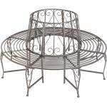 tectake Gartenbank »Baumbank 360° aus Stahl«, grau