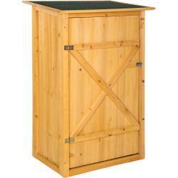tectake Geräteschrank »Gartenschrank mit Flachdach«
