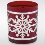 Teelichthalter Schneeflocke, rot 4251561601755 (5235-Rver)