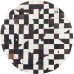 Teppich Kuhfell schwarz-weiß ø 140 cm Patchwork BERGAMA