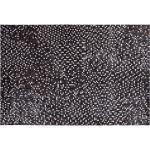 Teppich Leder braun/silber 140 x 200 cm AKKESE