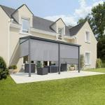 Terrassenüberdachung Gartenzimmer (L x T: 400 x 304,5 cm, Polycarbonat, Anthrazitgrau, Opal)