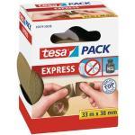 tesa tesapack Express PVC Verpackungsklebeband - einreiÃbar - 33 m x 38 mm - braun (0,10 € pro 1 m)