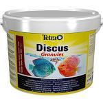 Tetra Discus Granules - Fischfutter für alle Diskusfische, fördert Gesundheit, Farbenpracht und Wachstum, 10 L Eimer