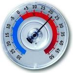 TFA Fensterthermometer Kunststoff Twatcher blau-rot rund 80 mm 14.6009.30