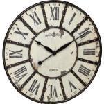 TFA Wanduhr 60.3039.02 Quarzuhr, Ø 57 cm, Holz und Metall, vintage